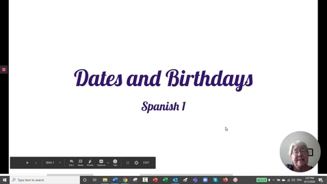Thumbnail for entry Dates and Birthdays-Spanish 1-Aug 20th