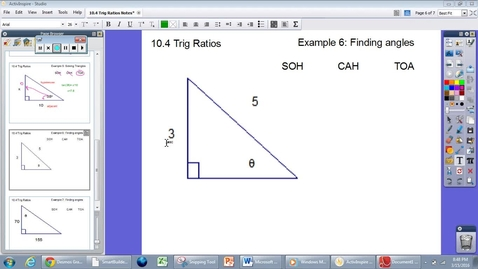 Thumbnail for entry 10.4 Trig Ratios Example #6