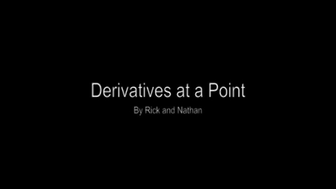 Thumbnail for entry Introduction to Derivatives