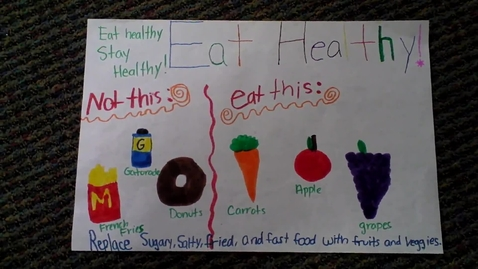 Thumbnail for entry .Betsey B. Winslow Mass in Motion Kids Eat Healthy! Stay healthy!