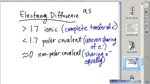 Thumbnail for entry Stephens Chemistry: Molecule Polarity worksheet discussions and explanations