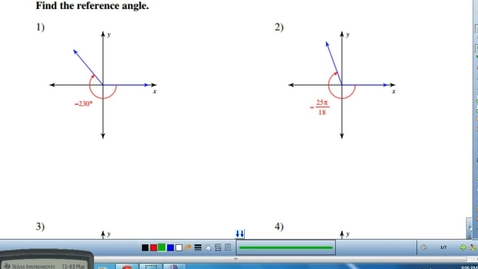 Thumbnail for entry REFERENCE ANGLES AND CO-TERMINAL