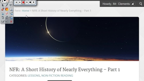 Thumbnail for entry NFR: A Short History of Nearly Everything – Part 1