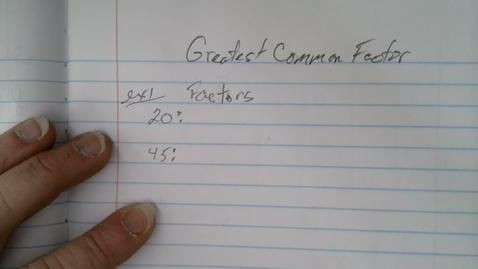 Thumbnail for entry Finding GCF Fundamentals