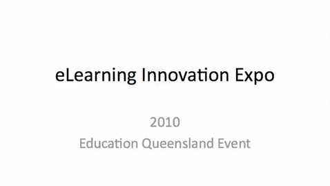 Thumbnail for entry 2010 eLearning Expo - Mordialloc College pt1