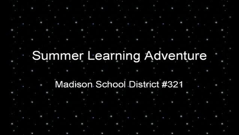Thumbnail for entry Summer Learning Adventure