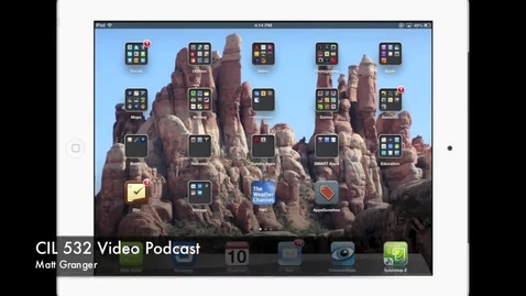 Thumbnail for entry CIL 532 Video Podcast: How iPads Store Files