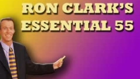 Thumbnail for entry Ron Clark's Essential 55 (Part 5) - WSCN (2009-2010)