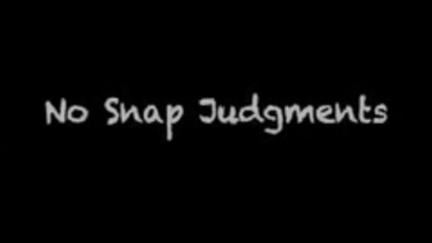 Thumbnail for entry Sudbrook Magnet Middle students take the No Snap Judgments Pledge