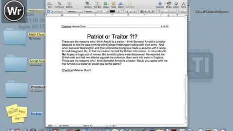 Thumbnail for entry Traitor or Patriot? CO
