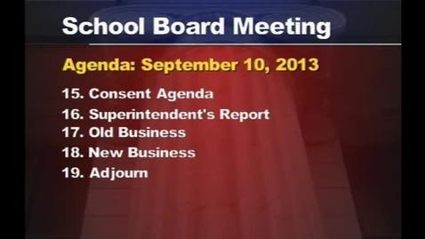 Thumbnail for entry School Board Meeting, November 12, 2013
