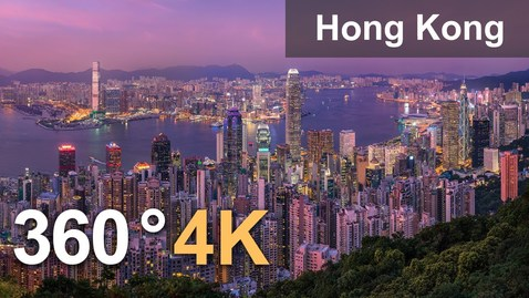 Thumbnail for entry Hong Kong. City of Skyscrapers. Aerial 360 video in 4K