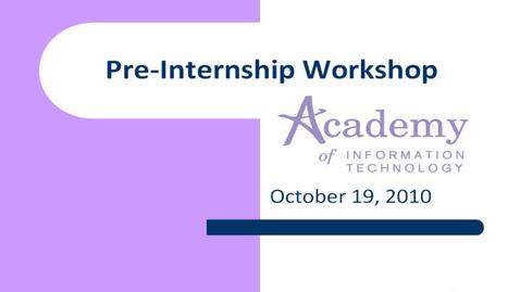 Thumbnail for entry AOIT Pre-Internship Meeting
