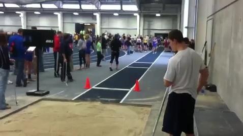 Thumbnail for entry Makeda Russ long jump at Bulldog Challenge @ Concordia University (3/16/13)