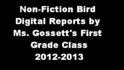 Thumbnail for entry Digital Songbird Reports