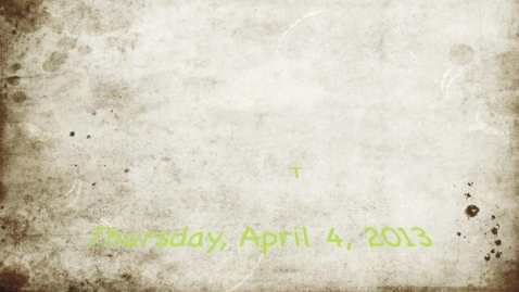 Thumbnail for entry Tisdale MMM Thursday April 4