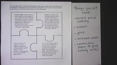Thumbnail for entry Puzzle Piece Activity Directions