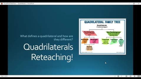 Thumbnail for entry Quadrilaterals 2