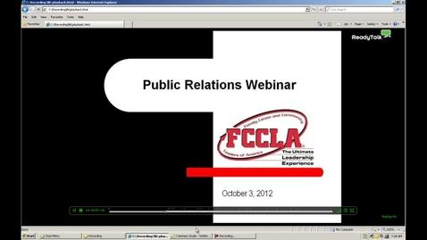 Thumbnail for entry FCCLA Public Relations Webinar
