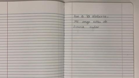 Thumbnail for entry Escritura -lunes- 9/21/2020