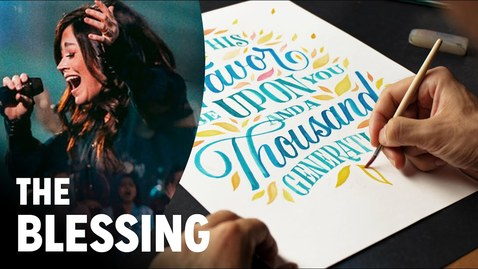 Thumbnail for entry The Blessing (lettering cover) Worship Art Lettering by Stefan Kunz