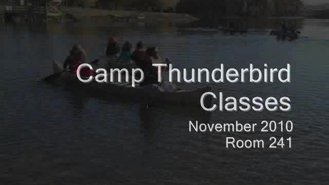 Thumbnail for entry Classes - Camp 2010