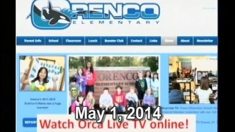 Thumbnail for entry Orca Live May 1, 2014