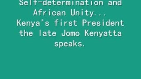Thumbnail for entry Jomo Kenyatta: Kenya's Patriarch