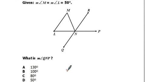 Thumbnail for entry Problem 13:  Geometry End of Course SOL Simulation