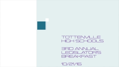 Thumbnail for entry 3rd Annual Tottenville High School Legislator's breakfast