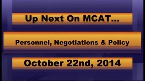Thumbnail for entry Personnel, Negotiations and Policy MCPS October 22, 2014