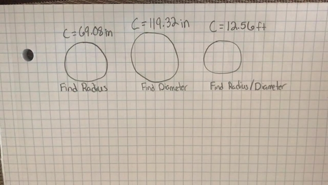 Thumbnail for entry Mr. Lamarre's Extra Help: Find Radius and Diameter from Circumference