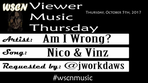Thumbnail for entry WSCN 10.05.17 - Viewer Music Thursday
