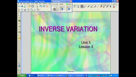 Thumbnail for entry Inverse Variation Introduction