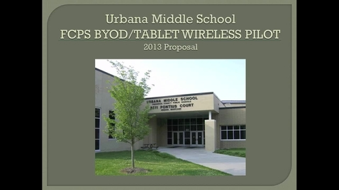 Thumbnail for entry BYOD/Wireless Proposal Introduction
