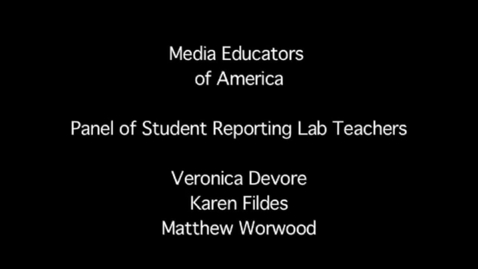 Thumbnail for entry MEOA: Panel of Student Reporting Lab Teachers