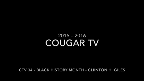 Thumbnail for entry Capital High School 2015 - 2016 Cougar TV Show 34