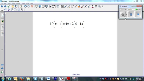 Thumbnail for entry Solving Multi-Step Equations 03 (Distributive Property twice)