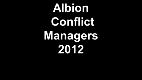Thumbnail for entry Albion Conflict Managers 2012
