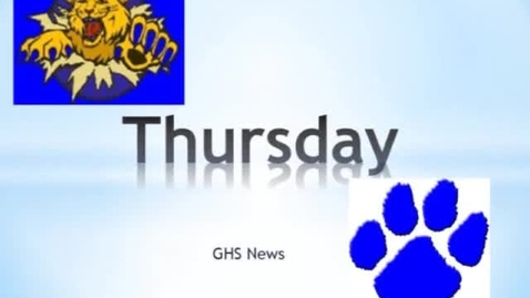 Thumbnail for entry GHS News 5-23-13