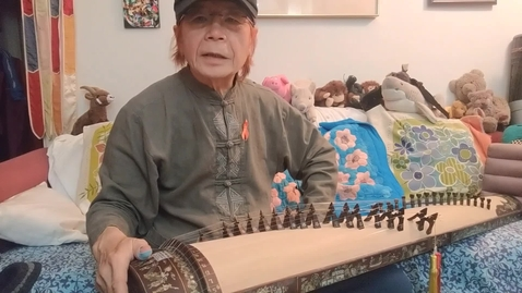 Thumbnail for entry T. Nhan introduces the đàn tranh zither (raw footage)