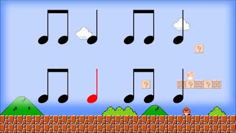 Thumbnail for entry Mario Theme Rhythm Video- Level 1
