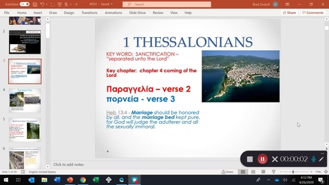Thumbnail for entry 1 THESSALONIANS INTRODUCTION