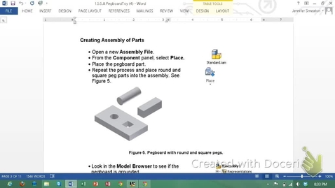 Thumbnail for entry Autodesk Inventor - Pegboard Assembly with Ends