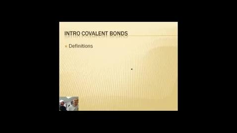 Thumbnail for entry Covalent Bonding