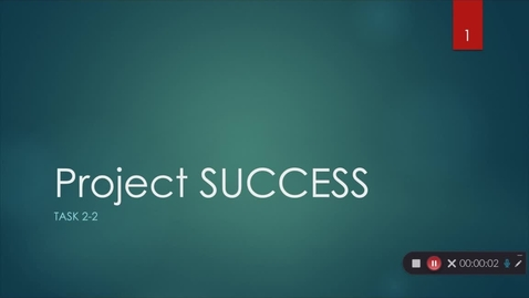 Thumbnail for entry Lesson 2-2 Project SUCCESS