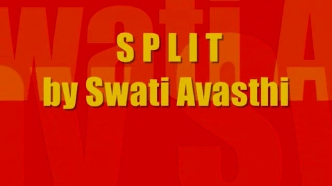 Thumbnail for entry Book Trailer : Split by Swati Avasthi