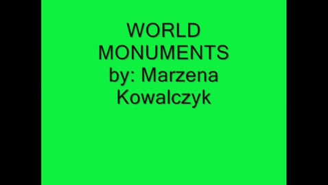 Thumbnail for entry Monuments of the world