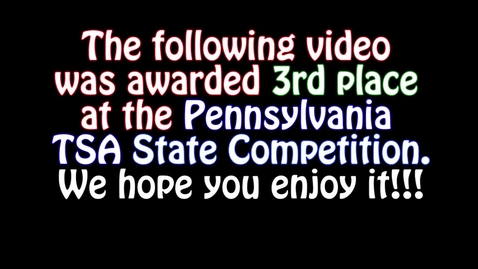 Thumbnail for entry PA TSA Anti-Bullying Promo (3rd Place)