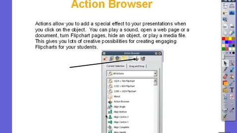 Thumbnail for entry Action Browser